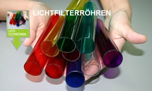 Light filter tubes, colored tubes