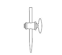 Burette Stopcock, straight type, glass plug, DIN 12561