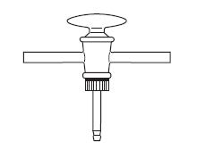 Three- Way Stopcock, Tail Plug, DIN 12555
