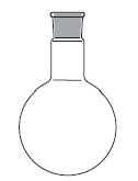 Round bottom flask, one neck, round bottom, DIN 12348 / ISO 1773