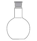 Round bottom flask, one neck, straight bottom, DIN 12348 / ISO 1773