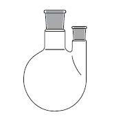Round bottom flask, two necks, with parallel side neck, DIN 12392 / ISO 1773