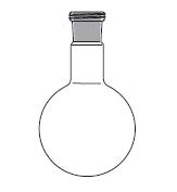 Round bottom flask, one neck, with RODAVISS screwed joint