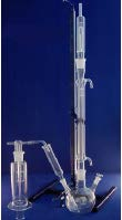 Cyanide determination apparatus (hydrocyanhidric separation apparatus with gas, analysis method: ISO 6703 / DIN 38405)