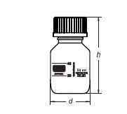 Reagent bottles with screw (autoclavable)