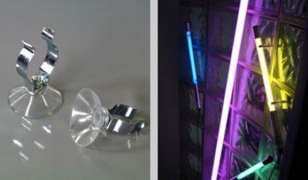 saugnapf set mit clip 30 mm zur befestigung an glasscheiben american neons neonst be. Black Bedroom Furniture Sets. Home Design Ideas