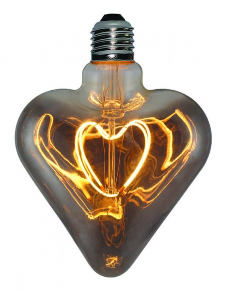 LED filament curved heart 5 watts DM 125 mm