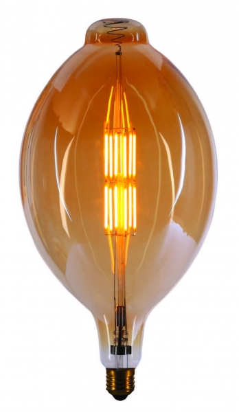 XXL LED Fadenlampe Filament 11 Watt gold DM 180 mm